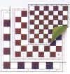 Schachplan mit Skai Unterlage