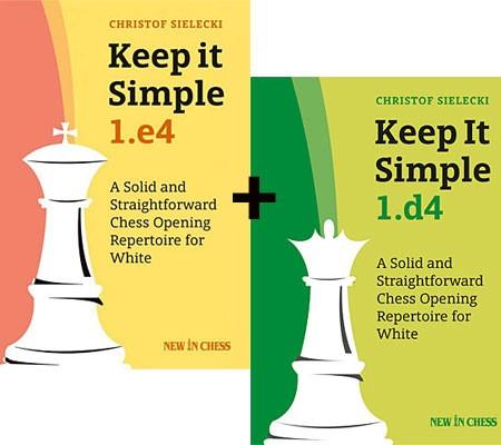 Sielecki, Keep it simple Bundle 1.e4 + 1.d4 (signierte Exemplare)